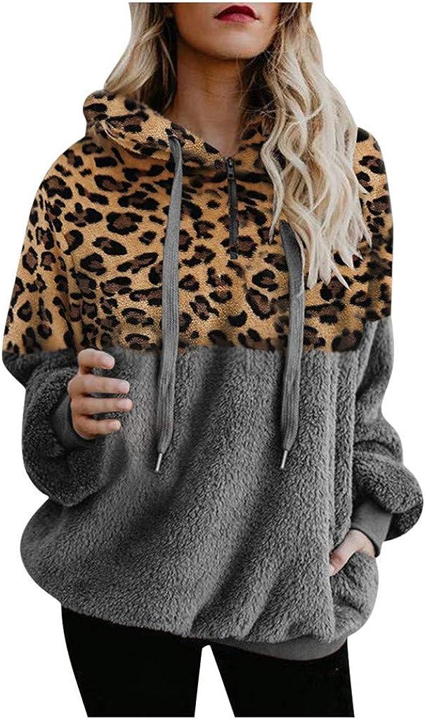 SHOBDW Liquidación Venta Mujer Sudadera con Capucha 2020 Suelta Tallas Grandes Jersey De Mujer Jersey Otoño Invierno Manga Larga Remata Abrigo Cálido