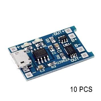 Henreal TP4056, 5 V, 1 A, USB 18650, módulo de protección para ...