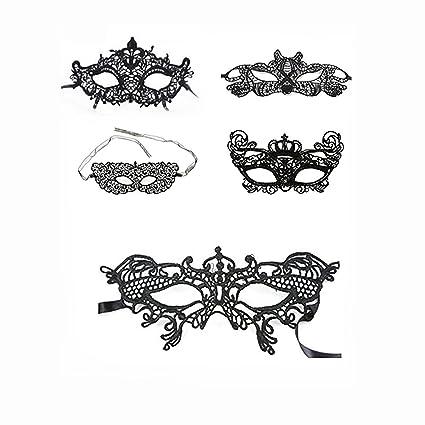 Mascaras Venecianas,Máscara de Encaje de Negra para Mujeres en Misteriosa para la Fiesta de