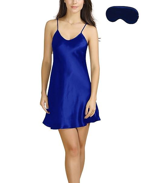 621c09b58712 Bel Avril Ropa de Dormir para Mujer, Lencería Satén Camisón Pijama Ropa de  Dormir simple Talla de S a XXXL