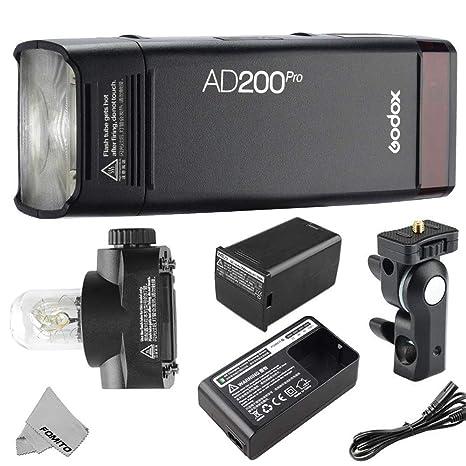 8000s HSS 200W mit X1T-C-Blitzausl/öser f/ür Canon EOS-Kameras GN52 GN60 1 Speedlite//Gl/ühlampe Godox AD200Pro Taschenblitz Tragbarer kabelloser TTL-Blitz mit wechselbarem Blitzkopf