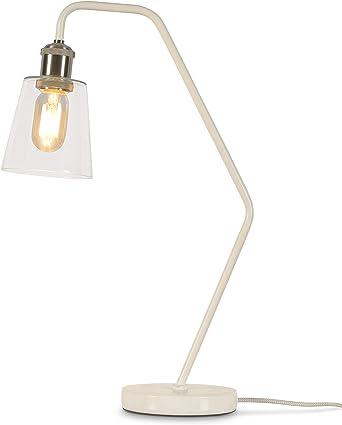 its about RoMi Paris - Lámpara de mesa con pantalla de cristal, lámpara de mesa para LED y bombillas, E27, 40 W...: Amazon.es: Iluminación
