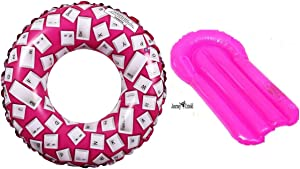 Toy Kids Spring Summer (Pinky Ball) Fun Backyard Outdoor Play Playtime Pool Lake Beach Water Inflatable Girly Key Board Kickboard - Bundle of 3
