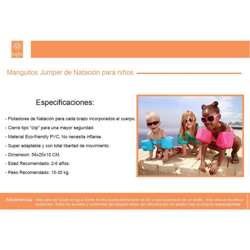 Ioghi Jumper - Manguitos De Natación Para Niños (Rojo - Almeja): Amazon.es: Juguetes y juegos