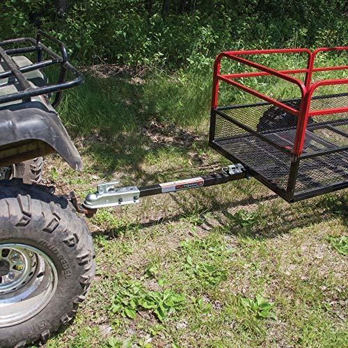 Yutrax Trail Warrior X2 1250 Pound Capacity Off Road Utility ATV Trailer & Hitch - Utility Trailer Atv
