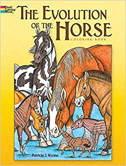 The Evolution Of Horse Dover Nature Coloring Book Patricia J Wynne 9780486467955 Amazon Books