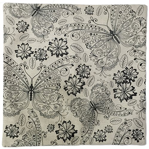 DIY Adult Coloring Decorative Throw Pillow Case Cover for Couch and Bed from XcelaCraft - Color It Yourself (Fabric Day Planner)