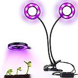 LED Einstellbar Pflanzenlicht,HORIFEN 16W Wachstumlampe mit 2 Knöpfe für Zimmerpflanzen Gewächshaus Garten