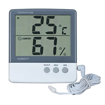 SMARSTAR LCD Digital Temperatur-Feuchtigkeits-Messinstrument ...