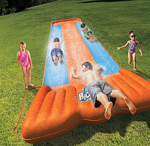 Bestway Two (2) H2O Go Triple Slider Kids Outdoor 3-Person Water Slides | 52200E by Bestway (Image #1)