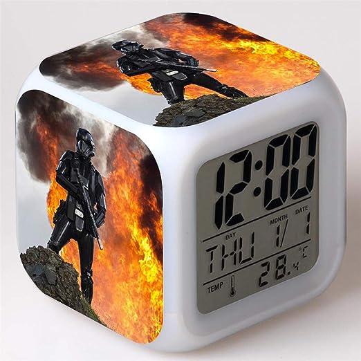 Regalo para Ni/ños Ni/ñas,I Mini Music Wake Up Alarm Clock con 8 Sonidos ZZTX FASHION Despertador para Ni/ños Despertador de Cabecera con Luz Nocturna de 7 Colores