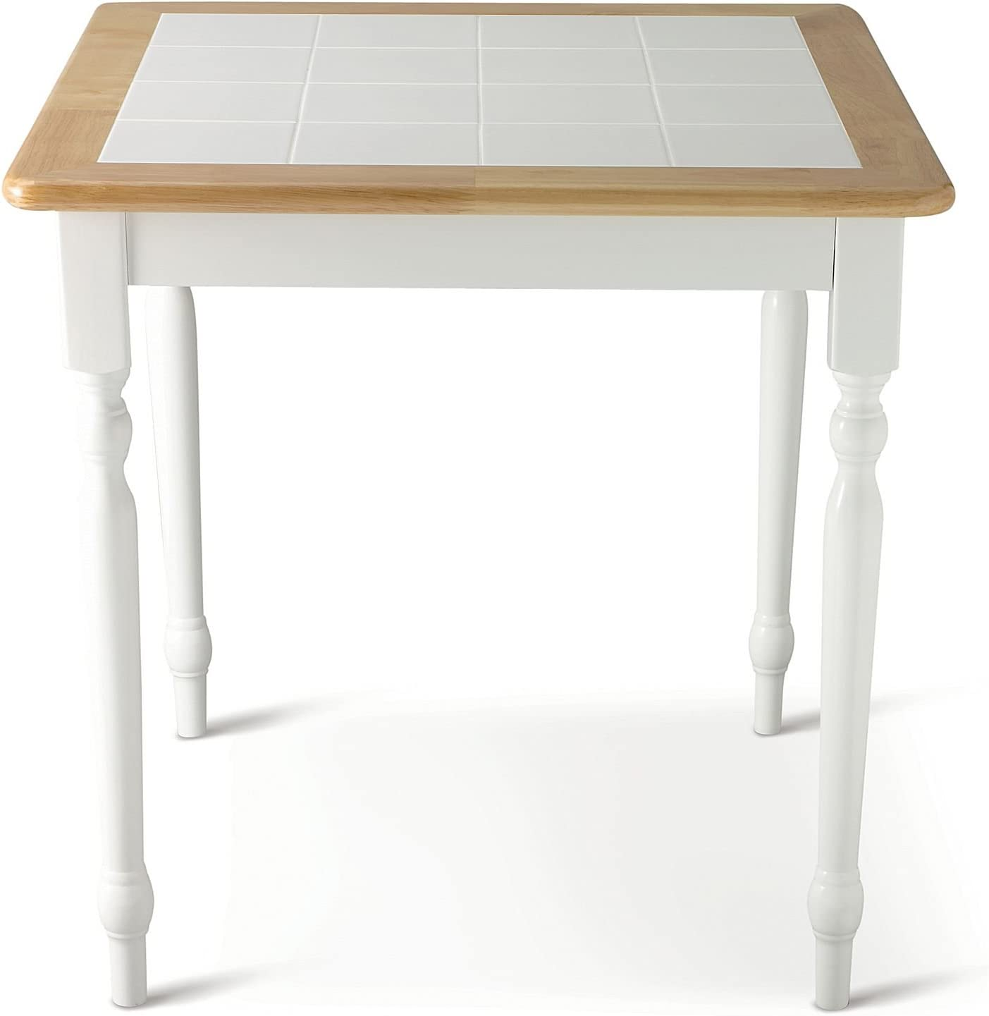 Amazon Com Willow 29 Square Dining Table White Kitchen Furniture Decor Dining Room Table Ceramic Tile Tabletop Long Lastng Natural Wood Construction 250 Pound Capacity Tables