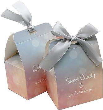 Amazon.com: 50 cajas de caramelos de boda para dulces y ...