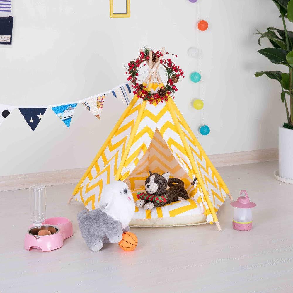 YSDTLX Haustierbett Pet Nest Winter Haustier Liefert Abnehmbare Baumwolle Zelt Zelt, Wie In Der Abbildung (Ohne Matte), 50  50  60 cm