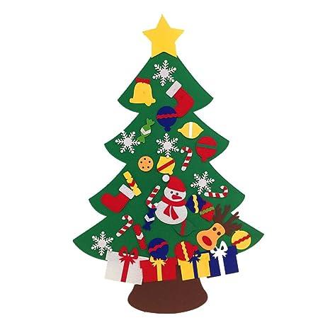 Juego de árbol de Navidad de fieltro con con velcro decoraciones adornos – colgar en la
