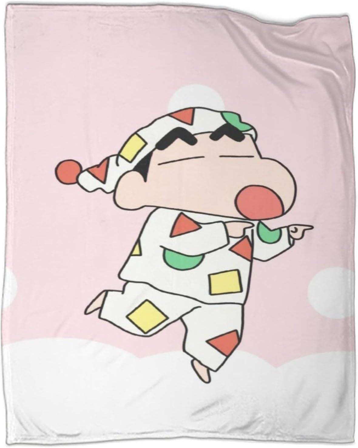 Crayon Shin-chan Shinchan Cartoon Anime Comics Winter Throw Blankets Decorative Bed Blankets 70x90inch(180x230cm)
