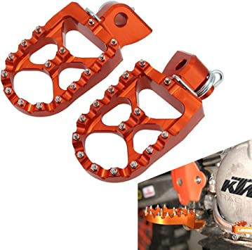 AnXin Foot Pegs Footpeg Rests Pedals CNC For KTM SX SX-F EXC EXCF XC XCF XCW 85 125 150 200 250 300 350 400 450 500-530 Motorcycle