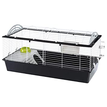Ferplast Casita 100 Large Rabbits, Guinea Pigs and Small Animals Cage, 96 x  57 x 56 cm