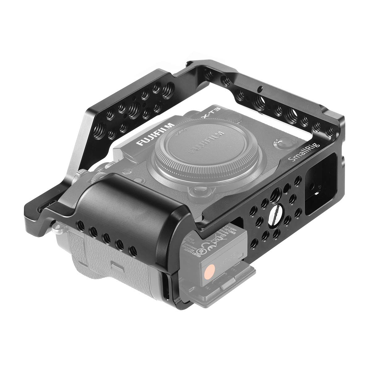 SMALLRIG Camera Cage for Fujifilm X-T3, Aluminum Alloy Cage with Cold Shoe, NATO Rail, Threaded Holes for Arri 3/8'',1/4''-20,3/8''-16 (2228) by SMALLRIG (Image #3)