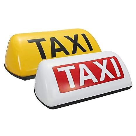 Amazon.com: ZHENWOCAI Impermeable Taxi Techo Top Signal Luz ...