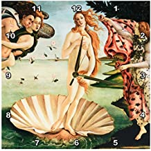 3dRose dpp_162552_2 Botticelli The Birth of Venus 1485 Famous Classic Art by Italian Masters Ocean Sea Shell Masterpiece-Wall Clock, 13 by 13-Inch
