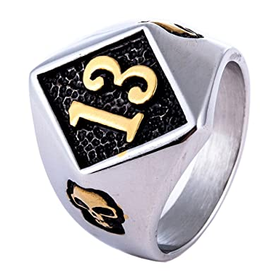 Amazon.com: ZMY hombres moda punk motorista joyería anillos ...