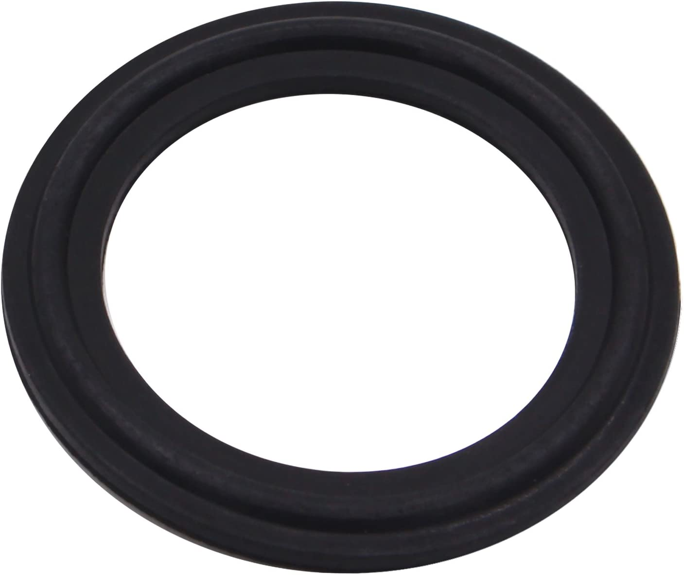 DERNORD FKM Rubber Gasket Tri-clamp O-Ring Fits Sanitary Tri-Clover Type Ferrule (Tri-Clamp Size: 1.5 Inch)