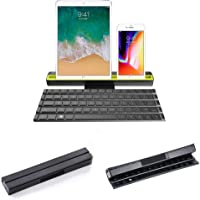 Rollable Bluetooth Keyboard, Teepao Foldable Ultra Slim Wireless Keyboard with Stand and Carrying Pouch Portable Keyboard for IPad, iPhone, Tablets, PC, Android, iOS, Windows, Mac