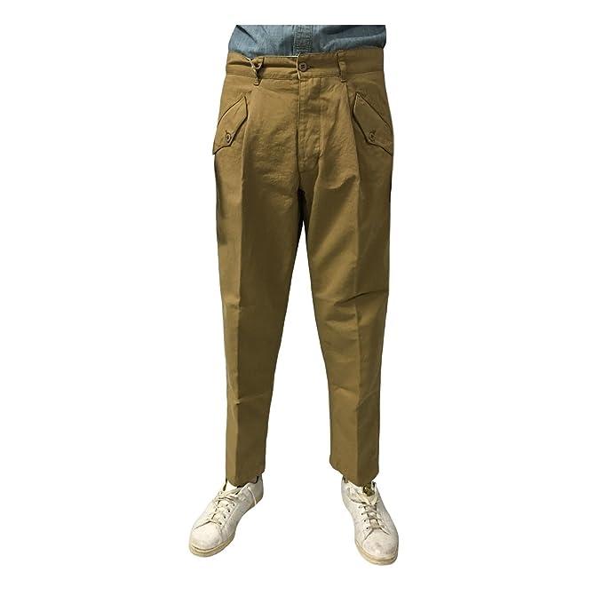 MANIFATTURA CECCARELLI Pantalone Uomo Camel 6518 76% Cotone 24% Lino Made  in Italy  Amazon.it  Abbigliamento 2ac452cccea