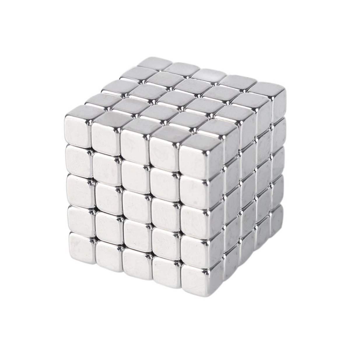ELECFIND-Magnetic Cubes Metal Square Cube for Brushed Nickel Pawn Style Magnetic Push,PerfectFridge, Office, Dry Erase Board Magnetic, Whiteboard, Map
