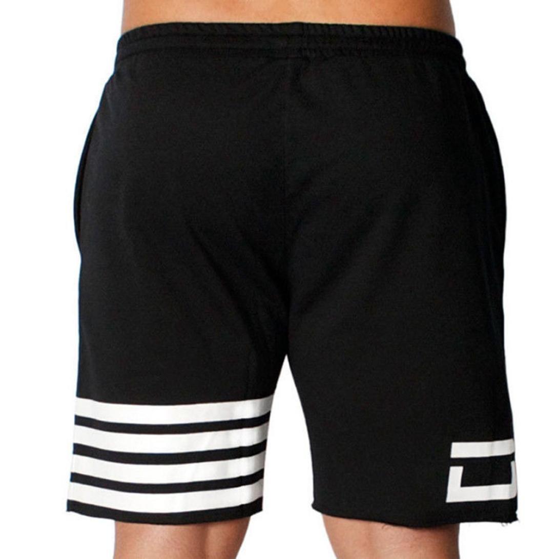 Herren Sporthose Hevoiok Laufen Kurze Hosen Freizeit Men Kleidung Casual Elastisches Fitnesstraining Flagge Sterne Shorts Jogginghose