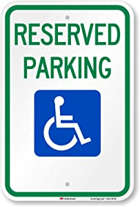 """""""Reserved Parking"""" Federal Handicap Parking Sign By SmartSign 