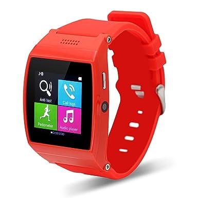 TECOMAX Bluetooth deporte Fitness Tracker reloj inteligente muñeca reloj teléfono con tarjeta SIM ranura mano libre
