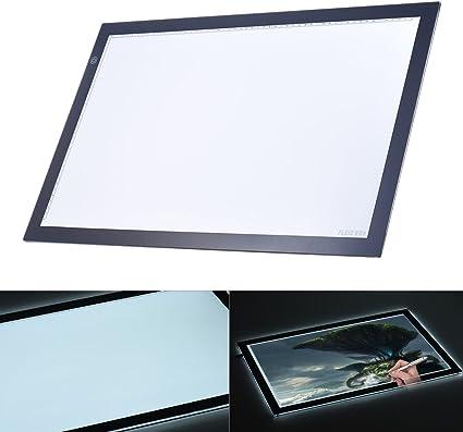 Aibecy A2 LED Mesa Tableta Caja de Luz Dibujo Portátil Control de brillo continuo con borde