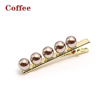 Amazon.com: Clips para el pelo de perlas coreanas para ...
