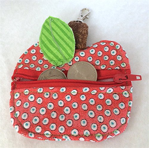 Change Purse, Apple Coin Key Pouch, Keychain Backpack Organizer, Zipper (Interfacing Pack)