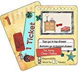 NEATLINGS Chore Cards Self-Care Deck ● 28 Self-Care Chores & 21 Ticket Cards ● Reward & Responsibility ● Yellow