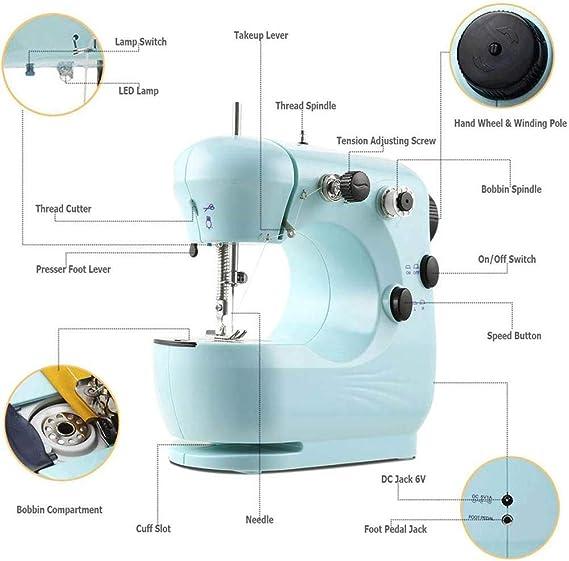 zuoshini Máquina de Coser Mini Máquina de Coser Eléctrica Costura ...