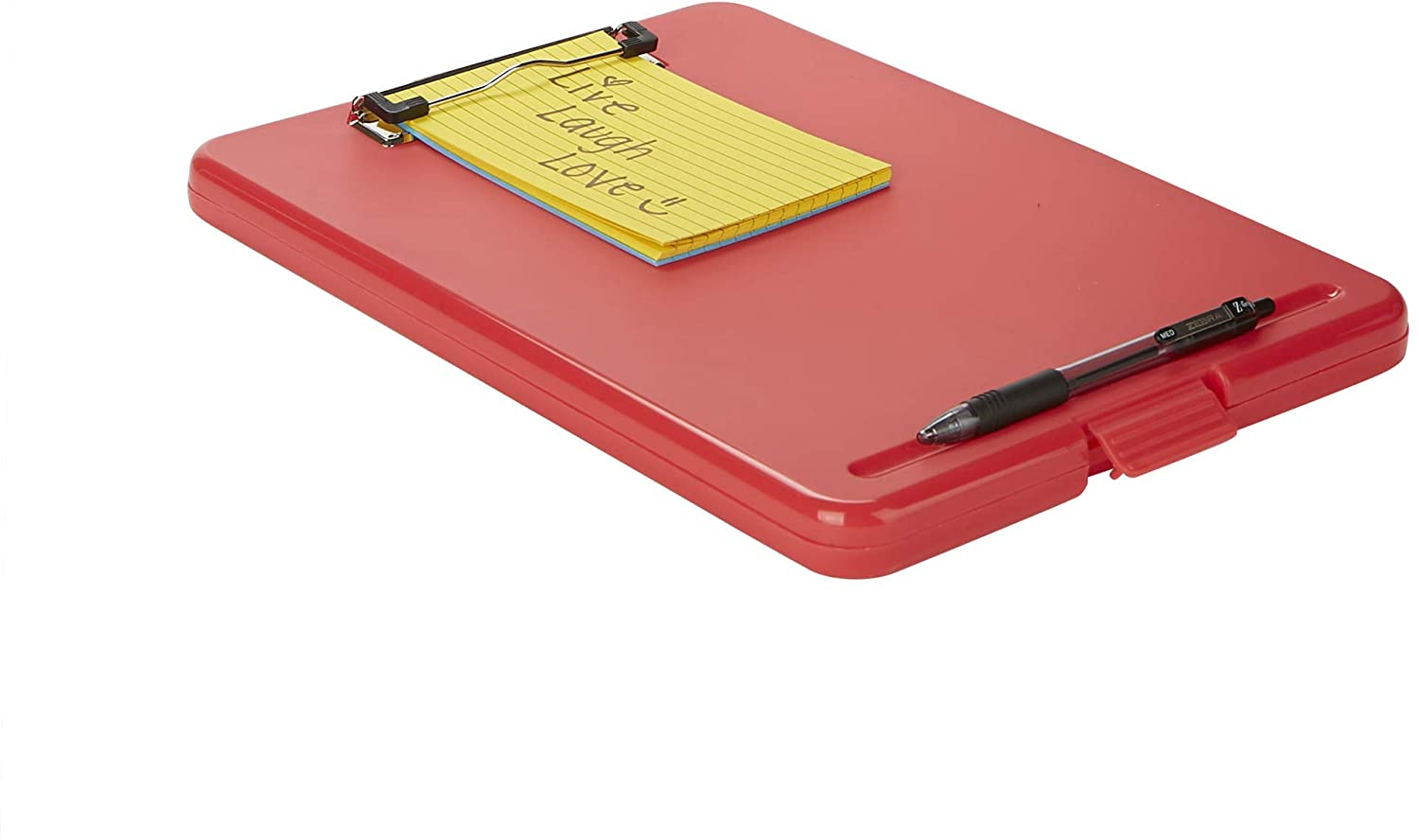 Multi-Color School Bottom Opening Storage Low Profile Clip Mind Reader COLCLIP6-ASST Clipboard Pack of 6 6 Pack Plastic Letter Office