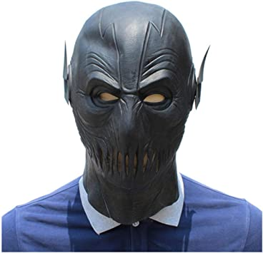 qiaoaoa The Flash Cosplay Mask Latex Full Head Party Black Mask ...
