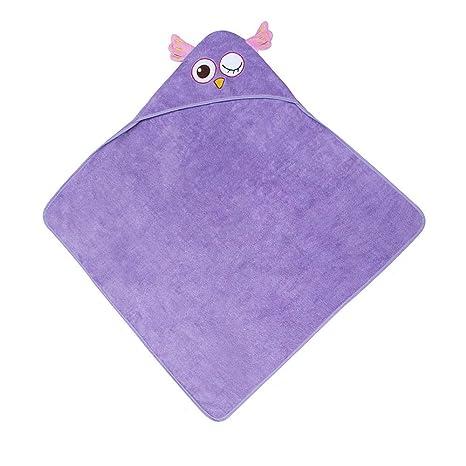 Albornoz Para Niños Niños de algodón orgánico ecológico Toalla de baño para niños Albornoz con capucha ...