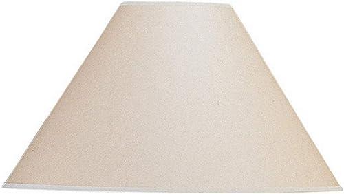 Cal Lighting Vertical Basic Coolie Kraft Paper Hardback Shade, 21 , Beige