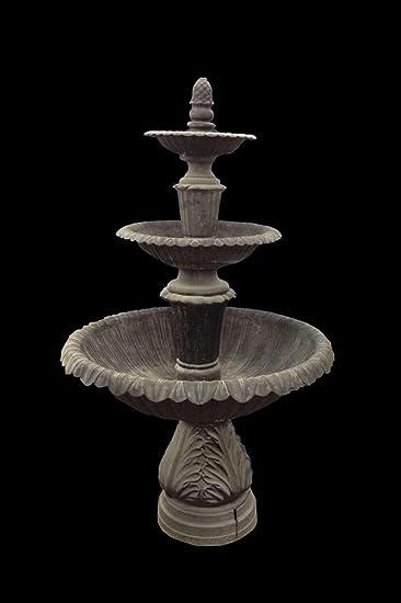 Black Cast Iron Fountain 3 Tier Large Outdoor Garden Lawn Park Arbor FT 42
