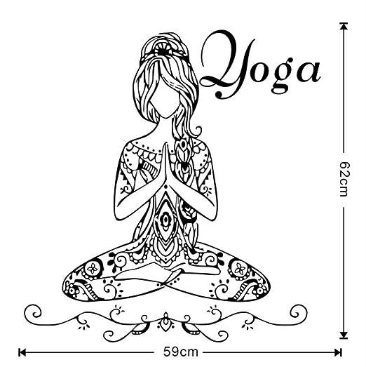 ZOUJIE Etiqueta de la Pared de la Cocina, Meditación de Yoga ...