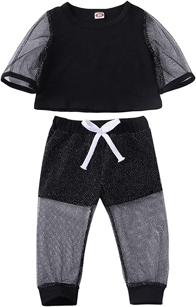 Toddler Kids Baby Girls T-shirt Tops+Pants Outfits Clothes Tracksuit 2PCS//Set