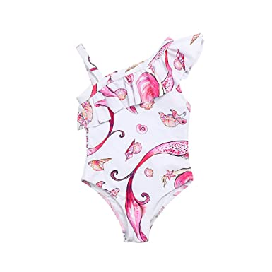 78509aff5a Iuhan One-Piece Toddler Baby Girls Cute Ruffle Printed Swimwear Bathing  Bikini Swimsuit: Amazon.in: Clothing & Accessories