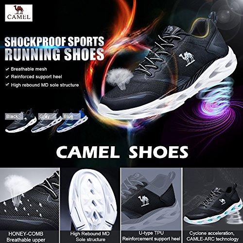 La Noir Mode Athlétique Gym Plus Pour Camel Marche Chaussures De Hommes Sneakers Course Taille Sport Trainers Léger Antichoc Trail v8vUaq