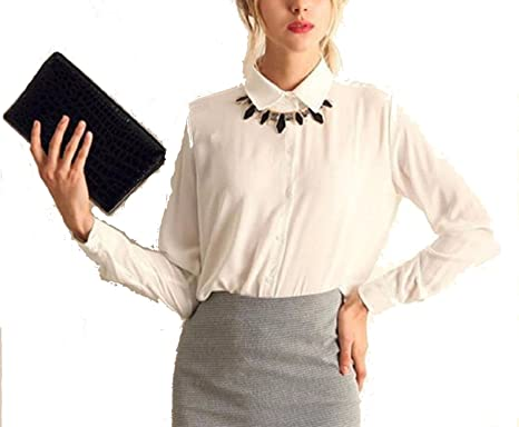 f02337b9bd79c Amazon.com  Perfect-Sense-Show 5 Colors Work Wear Women Shirt ...