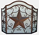 LL Home Metal Heavy Star Fire Screen Home Decor from Marco International