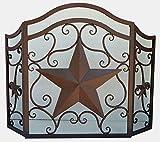 LL Home Metal Heavy Star FIRE Screen Home Decor